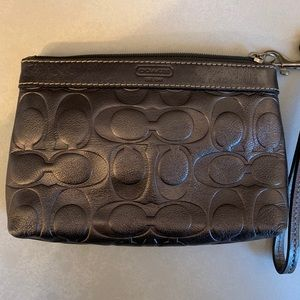 Authentic Coach Wristlet — Like new!